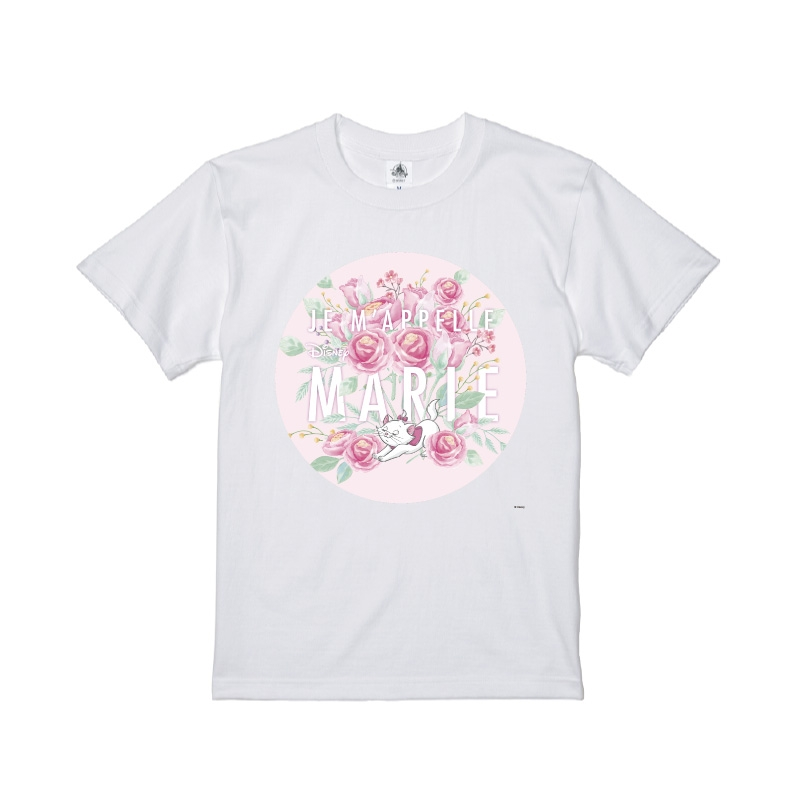 【D-Made】Tシャツ おしゃれキャット マリー ピンク バラ Cat Day