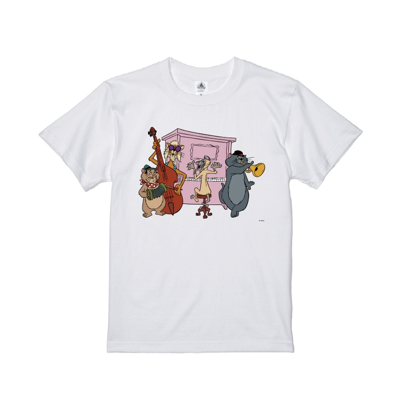 【D-Made】Tシャツ おしゃれキャット ジャズ猫 演奏
