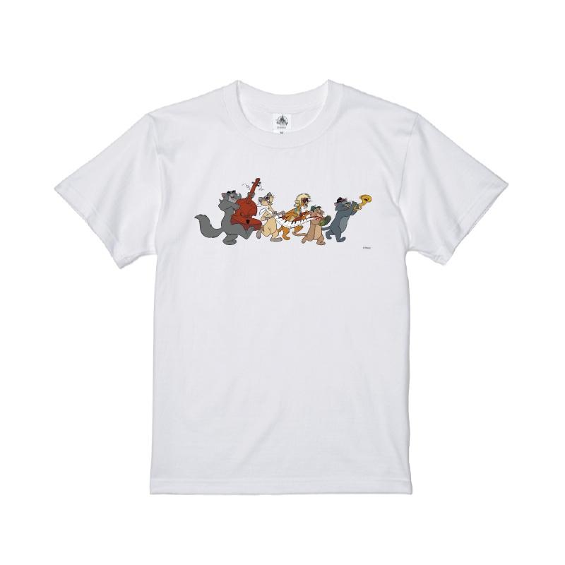 【D-Made】Tシャツ おしゃれキャット ジャズ猫 行進