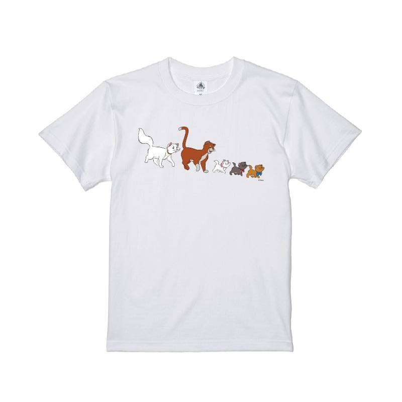 【D-Made】Tシャツ おしゃれキャット マリー&トゥルーズ&ベルリオーズ&ダッチェス&トーマス・オマリー 行進