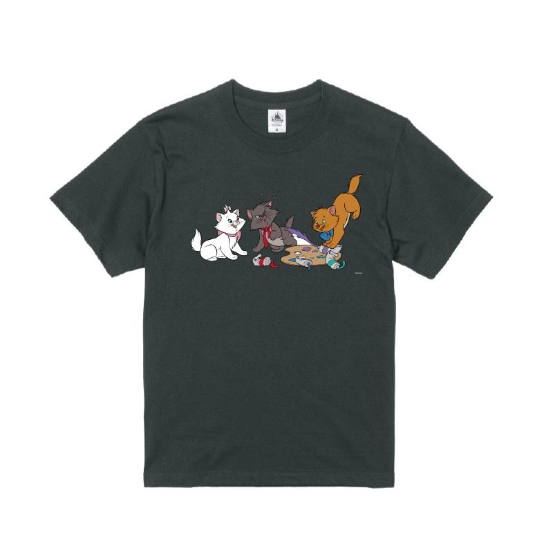 【D-Made】Tシャツ おしゃれキャット マリー&トゥルーズ&ベルリオーズ 絵具