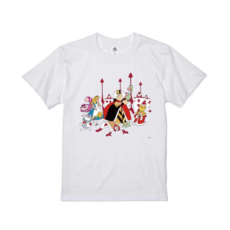 【D-Made】Tシャツ ふしぎの国のアリス アリス&ハートの女王&白うさぎ&チェシャ猫&トランプ兵&王様
