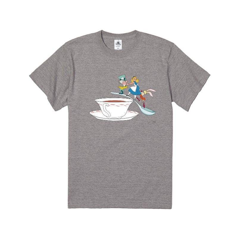 【D-Made】Tシャツ ふしぎの国のアリス アリス&マッドハッター&3月うさぎ ティーカップ