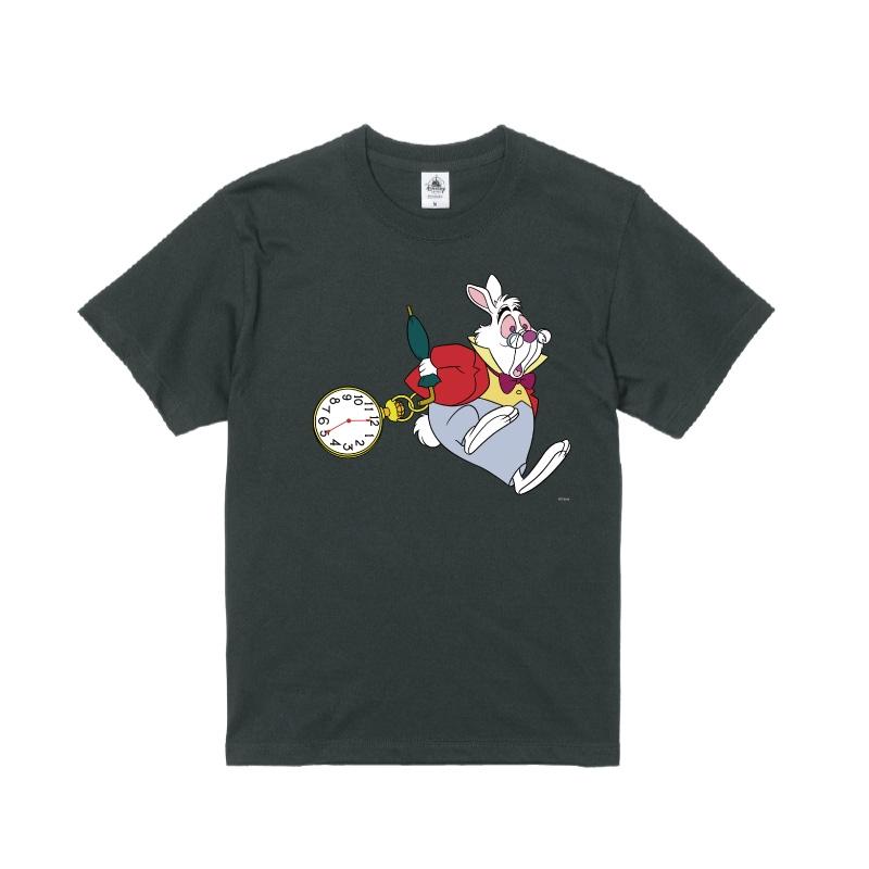 【D-Made】Tシャツ ふしぎの国のアリス 白うさぎ 時計