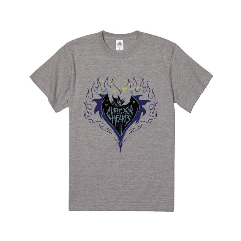 【D-Made】Tシャツ 眠れる森の美女 マレフィセント ハート 炎