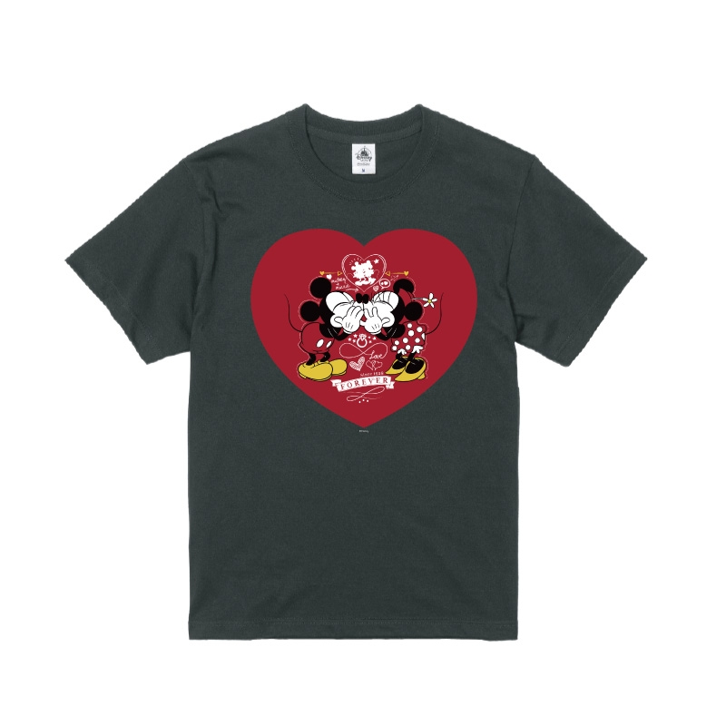 【D-Made】Tシャツ ミッキー&ミニー ハート FOREVER