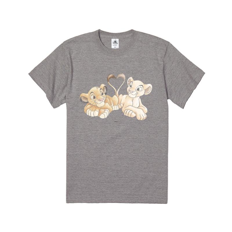 【D-Made】Tシャツ ライオン・キング シンバ&ナラ 尻尾 ハート