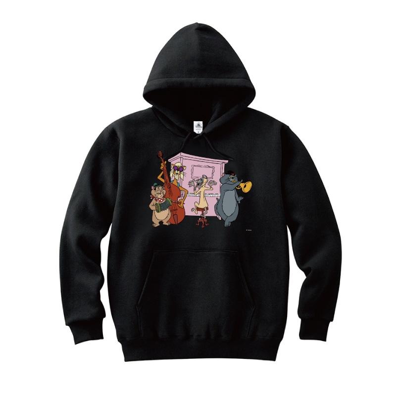 【D-Made】パーカー おしゃれキャット ジャズ猫 演奏