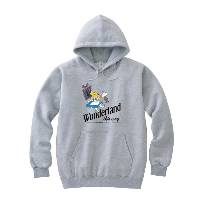 【D-Made】パーカー ふしぎの国のアリス Wonderland this way