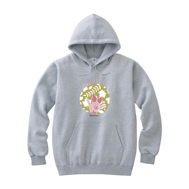 【D-Made】パーカー くまのプーさん ピグレット 草花