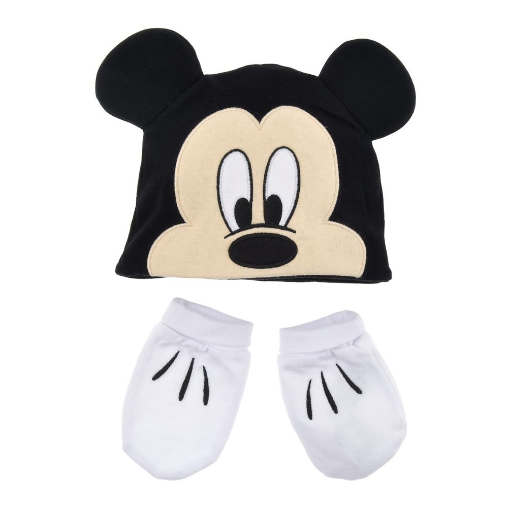 ミッキー ベビー用ボディスーツ 帽子・グローブ付き Disney Baby