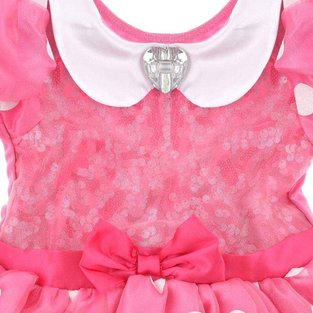 ミニー キッズ用ドレス グローブ付き ピンク スパンコール
