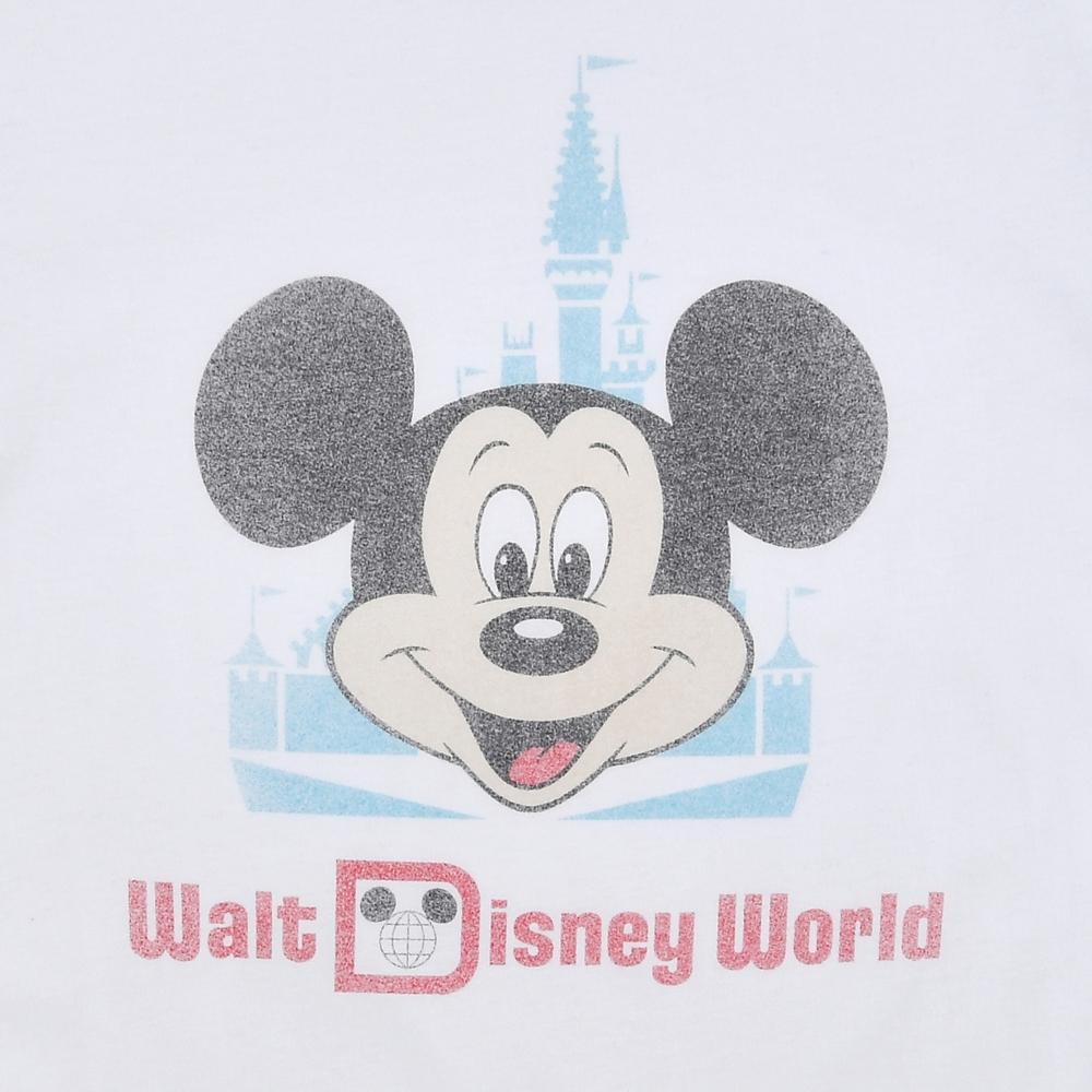 ミッキー 半袖Tシャツ フェイス&城 WALT DISNEY World 50TH VAULT