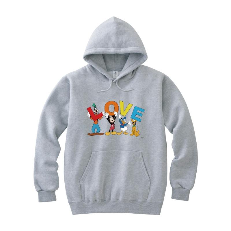 【D-Made】パーカー ミッキー&フレンズ LOVE