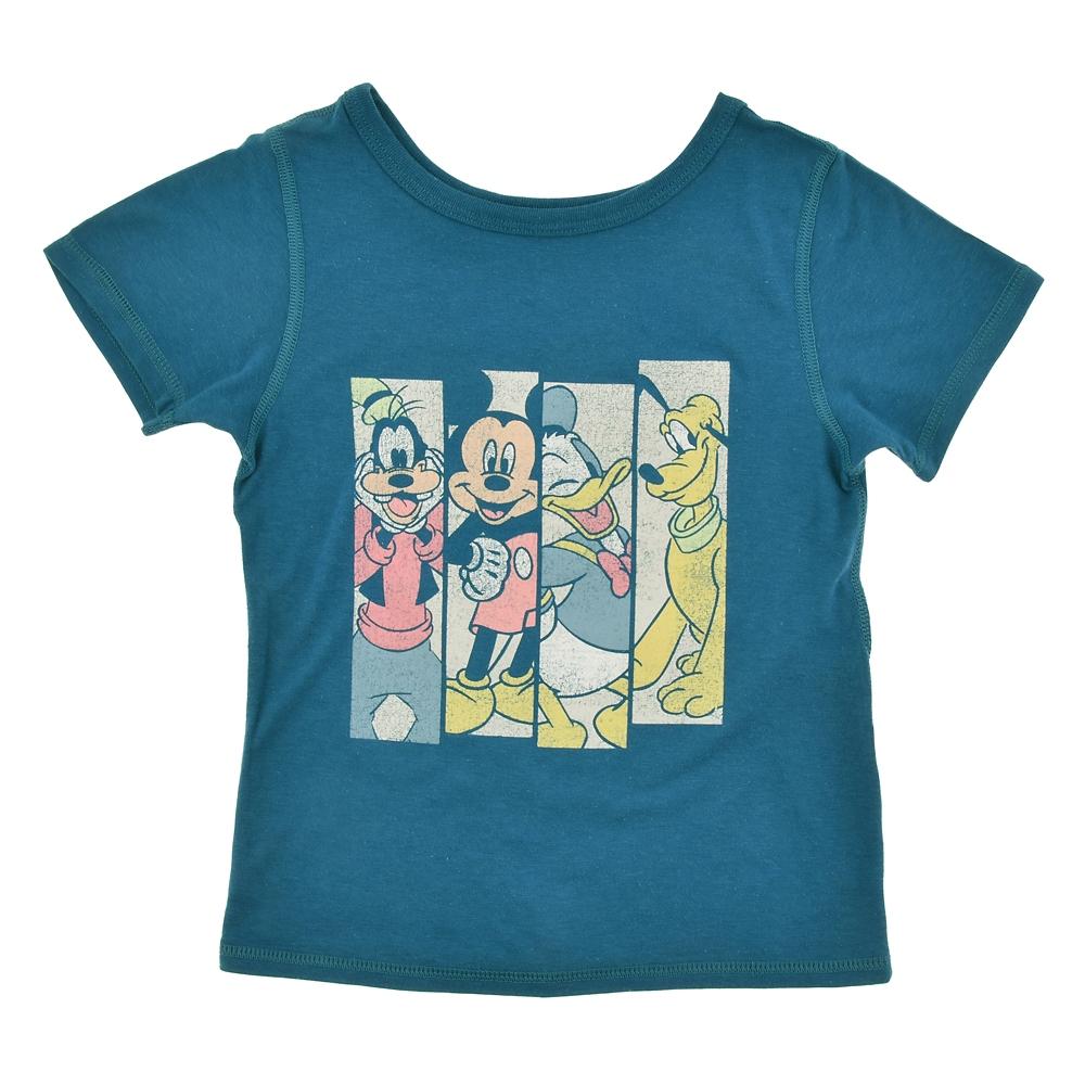 ミッキー&フレンズ キッズ用半袖Tシャツ プリント