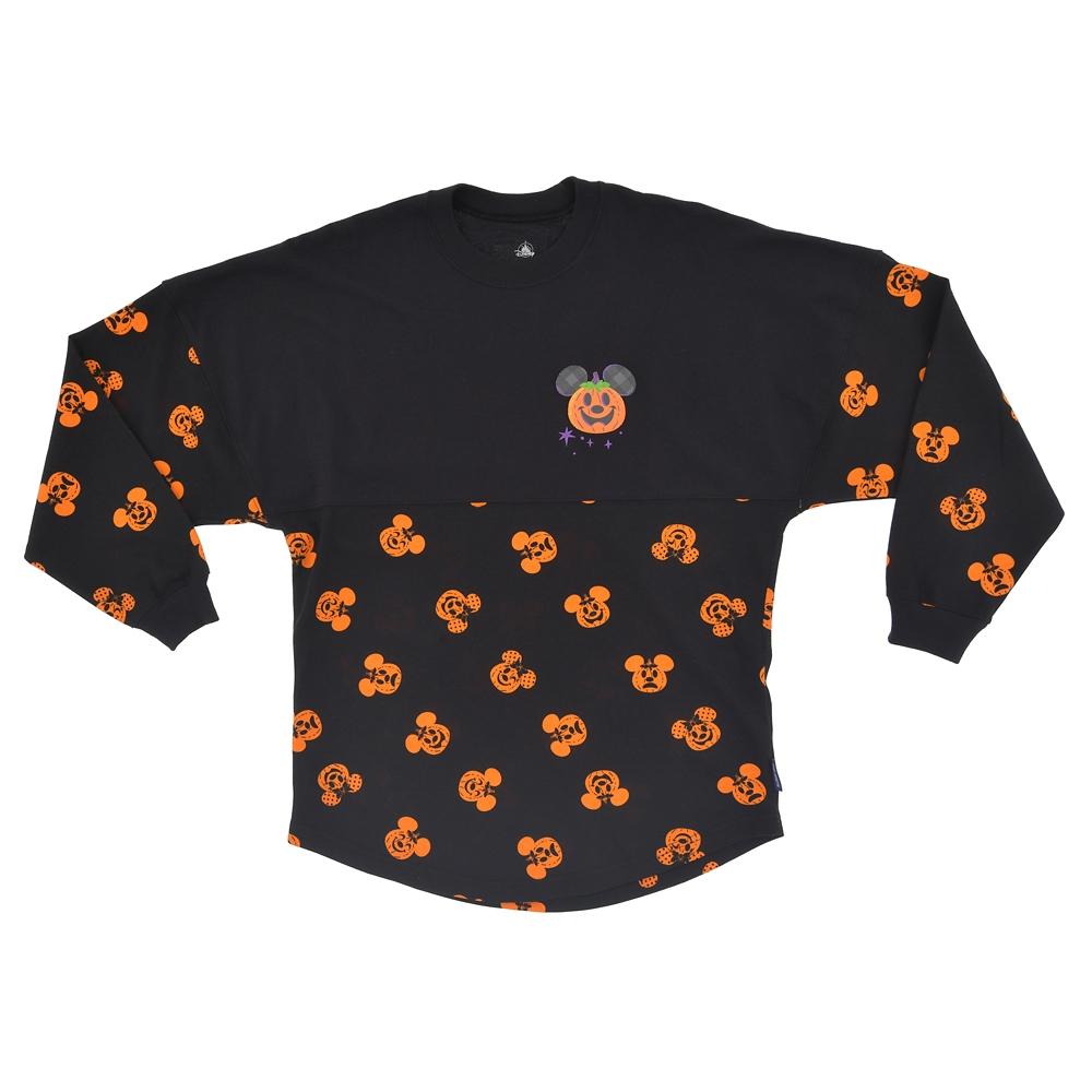 【Spirit Jersey】ミッキー&ミニー 長袖Tシャツ カボチャ Disney Halloween 2021