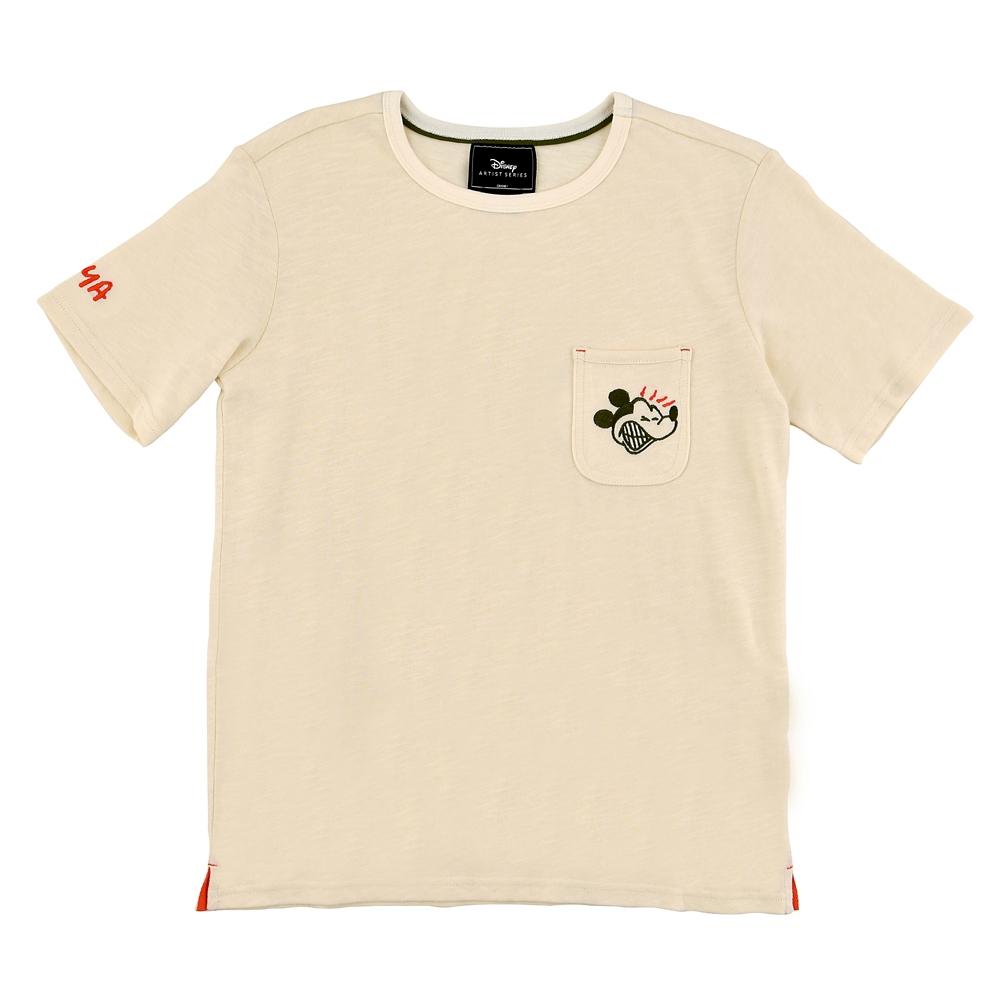 ミッキー 半袖Tシャツ バックプリント Artist Series by Bret Iwan
