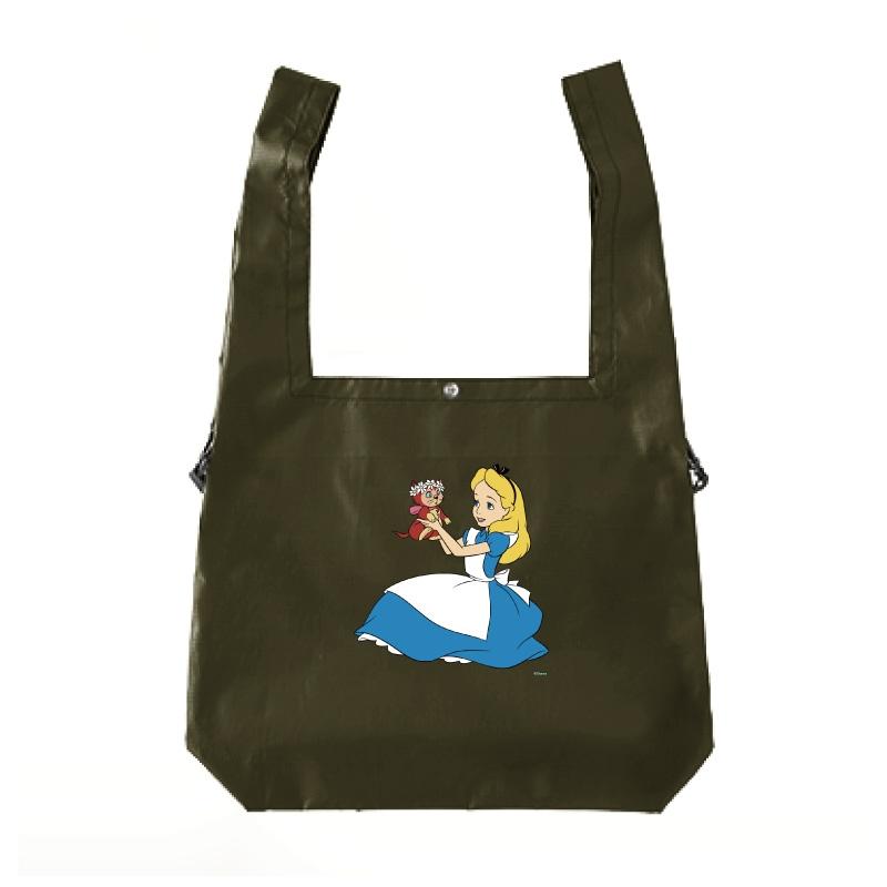 【D-Made】エコバッグ ふしぎの国のアリス アリス&ダイナ 抱っこ 花冠