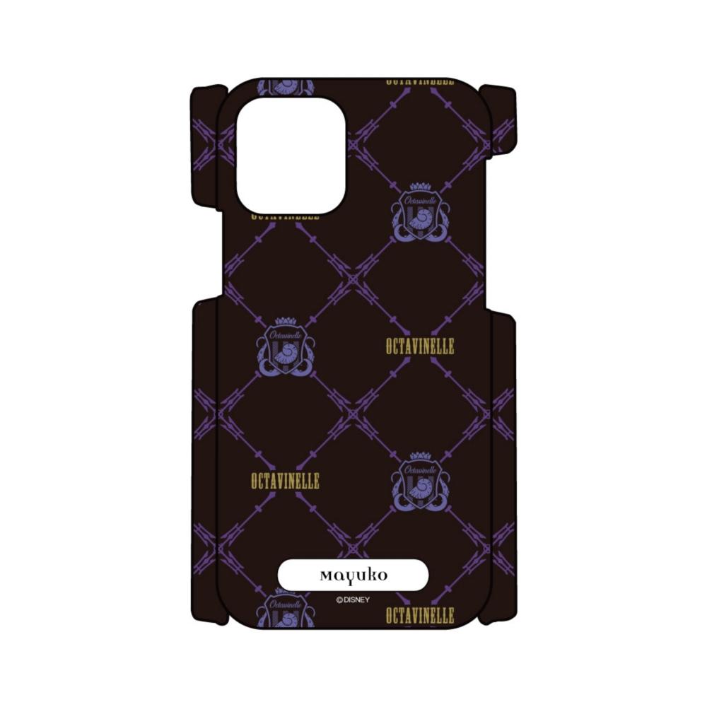 【D-Made】iPhone専用 オーダーメイド スマートフォンカバー 『ディズニー ツイステッドワンダーランド』 オクタヴィネル寮 総柄2