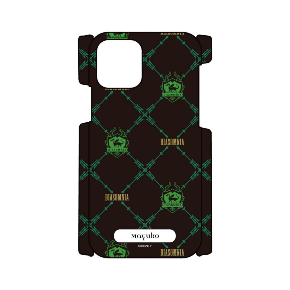【D-Made】名入れ iPhoneケース 『ディズニー ツイステッドワンダーランド』 ディアソムニア寮 総柄2
