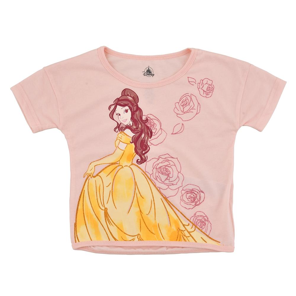 ベル キッズ用半袖Tシャツ Rose ラメライン