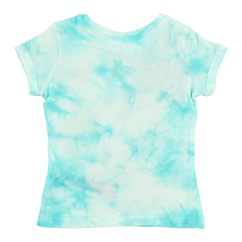 アリエル、フランダー、セバスチャン キッズ用半袖Tシャツ ブルー タイダイ