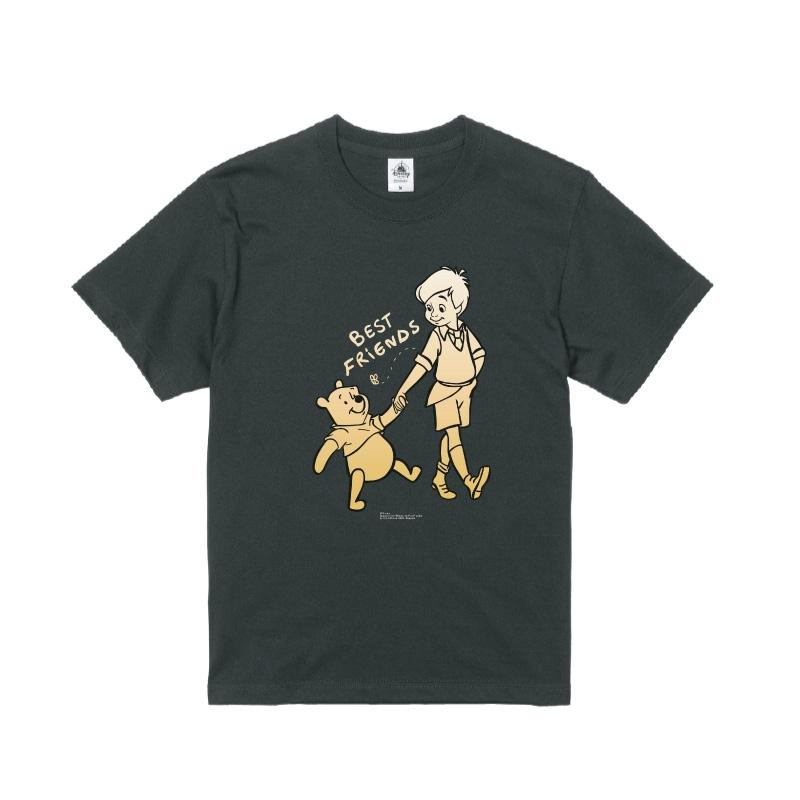 【D-Made】Tシャツ くまのプーさん プー&クリストファー・ロビン BEST FRIENDS