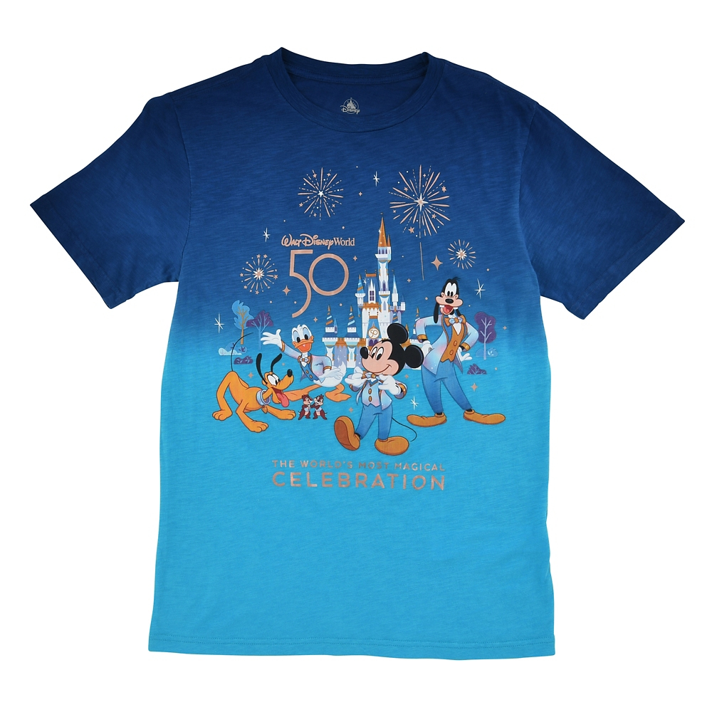 ミッキー&フレンズ 半袖Tシャツ グラデーション WALT DISNEY World 50TH CELEBRATION