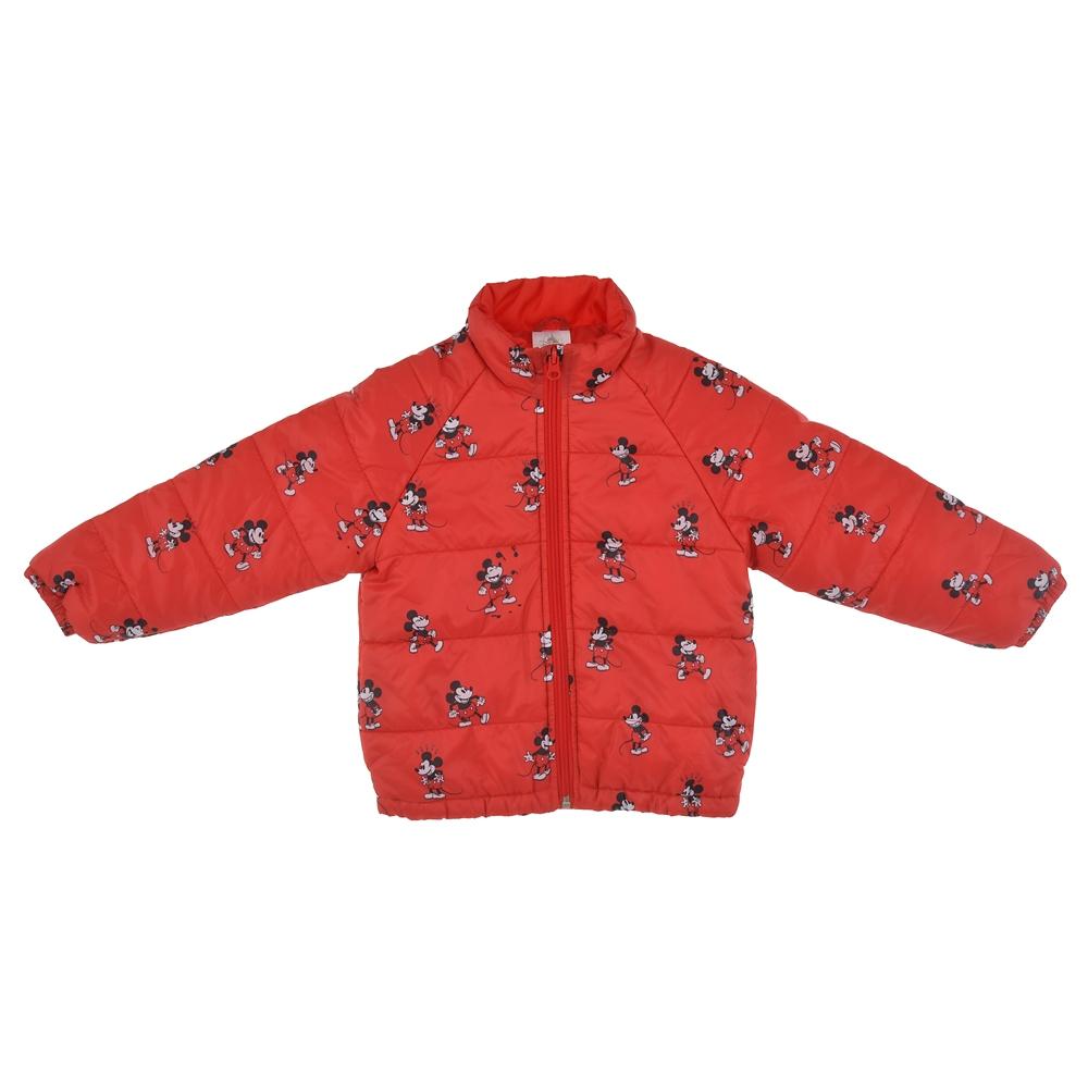 ミッキー キッズ用ジャケット 中綿 レッド