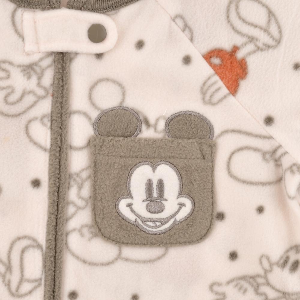 ミッキー ロンパース フェイスポケット Disney baby
