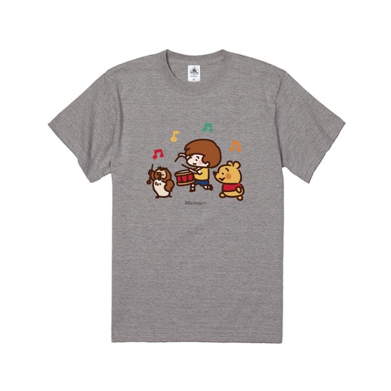 【D-Made】Tシャツ カナヘイ画♪くまのプーさん プー&オウル&クリストファー・ロビン