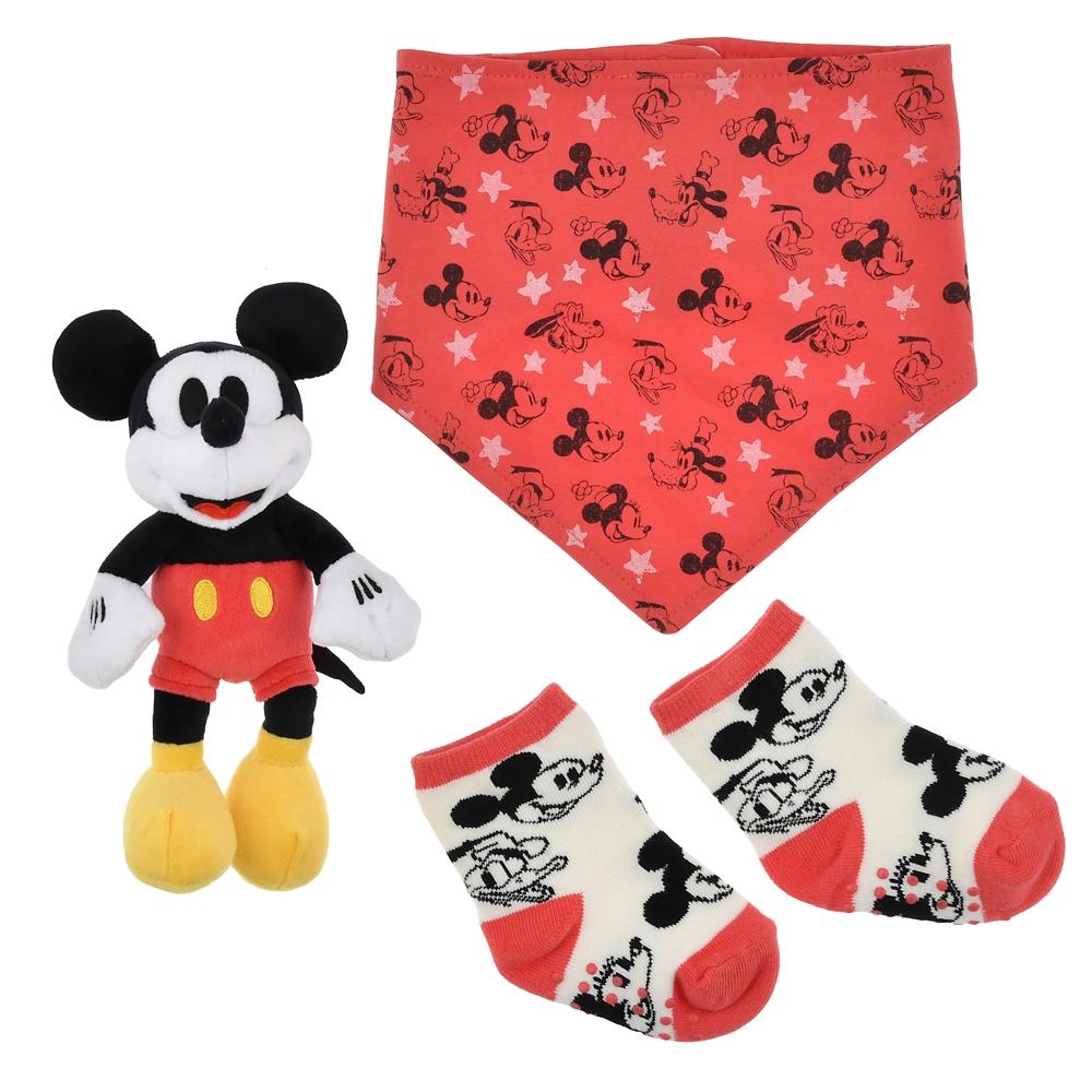 ミッキー&フレンズ BABY GIFT 3点セット フェイス柄 Disney Baby