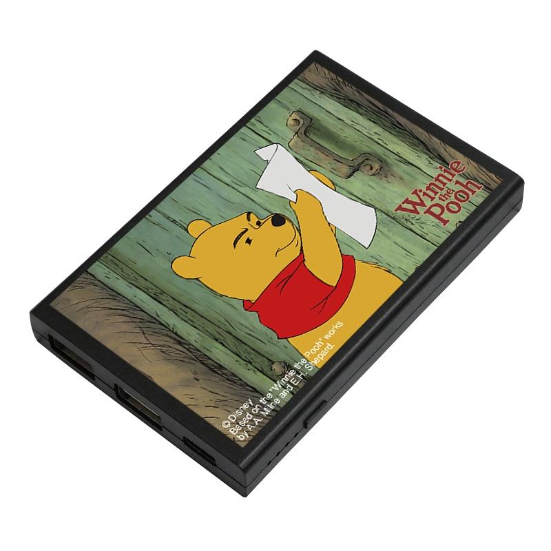 【D-Made】モバイルバッテリーチャージャー 『くまのプーさん ちいさなぼうけん』 かいぶつスグモドル プーさん