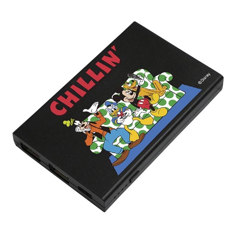 【D-Made】モバイルバッテリーチャージャー ミッキー&フレンズ CHILLIN'