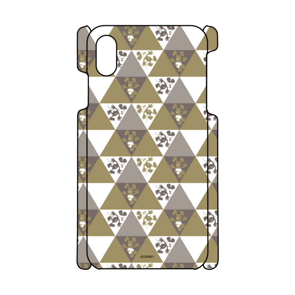【D-Made】iPhoneケース 総柄 ミッキー 三角形パターン
