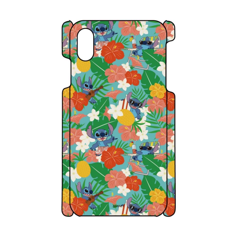 【D-Made】iPhoneケース 総柄 リロ&スティッチ スティッチ ハワイアン
