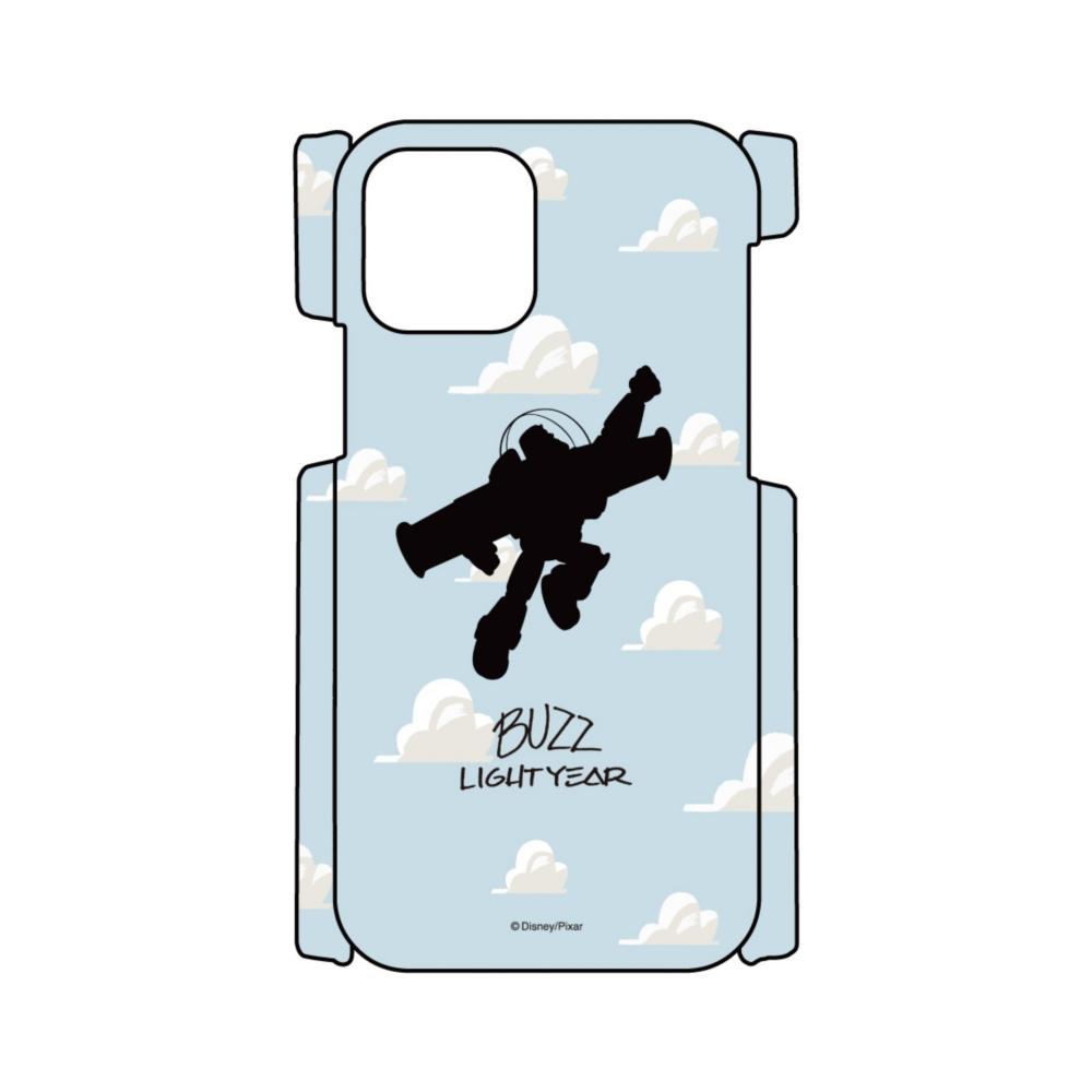 【D-Made】iPhoneケース 総柄 トイ・ストーリー バズ・ライトイヤー シルエット 雲柄