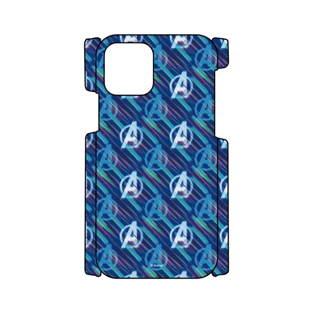 【D-Made】iPhoneケース 総柄 MARVEL アベンジャーズ アイコン