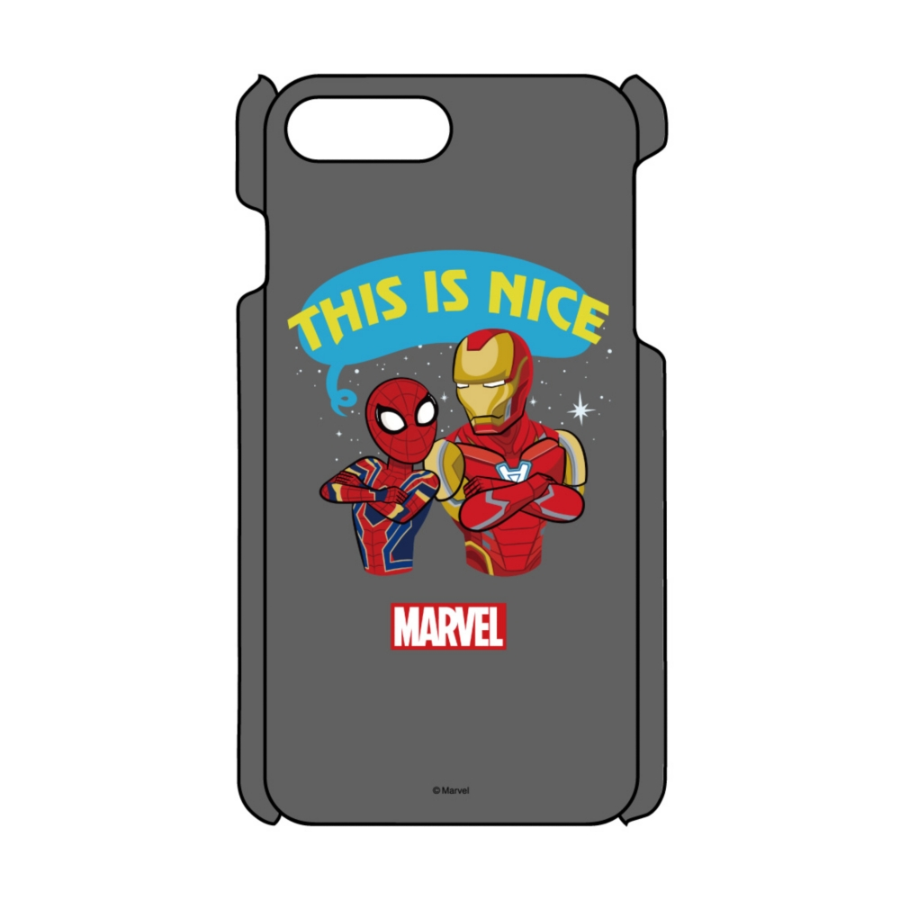 【D-Made】iPhoneケース MARVEL アイアンマン&スパイダーマン This is nice
