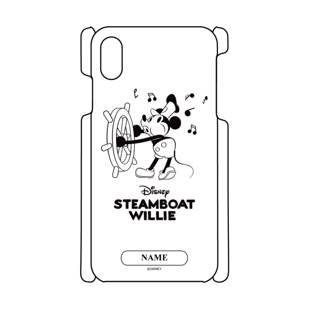 【D-Made】名入れ iPhoneケース 蒸気船ウィリー