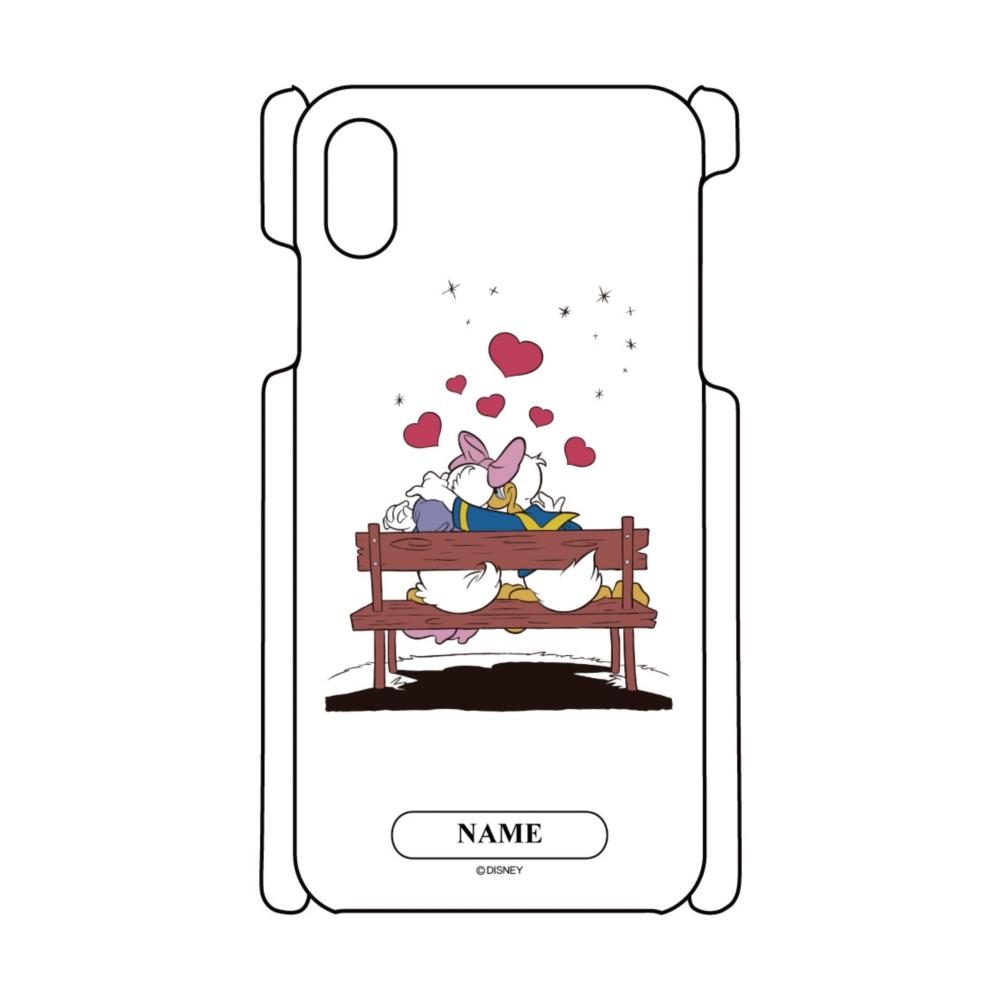 【D-Made】名入れ iPhoneケース ドナルド&デイジー Love