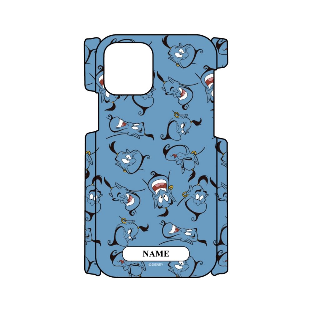 【D-Made】名入れ iPhoneケース 総柄 アラジン ジーニー Face