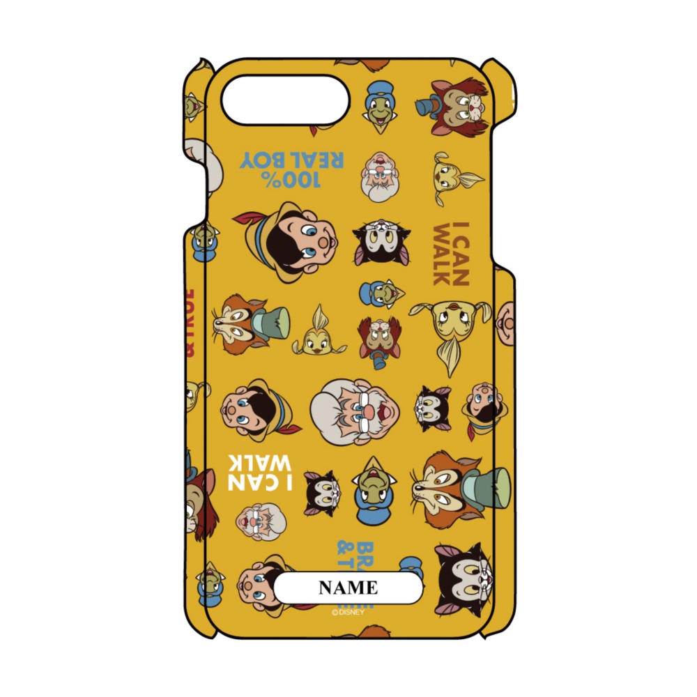【D-Made】名入れ iPhoneケース 総柄 ピノキオ 集合
