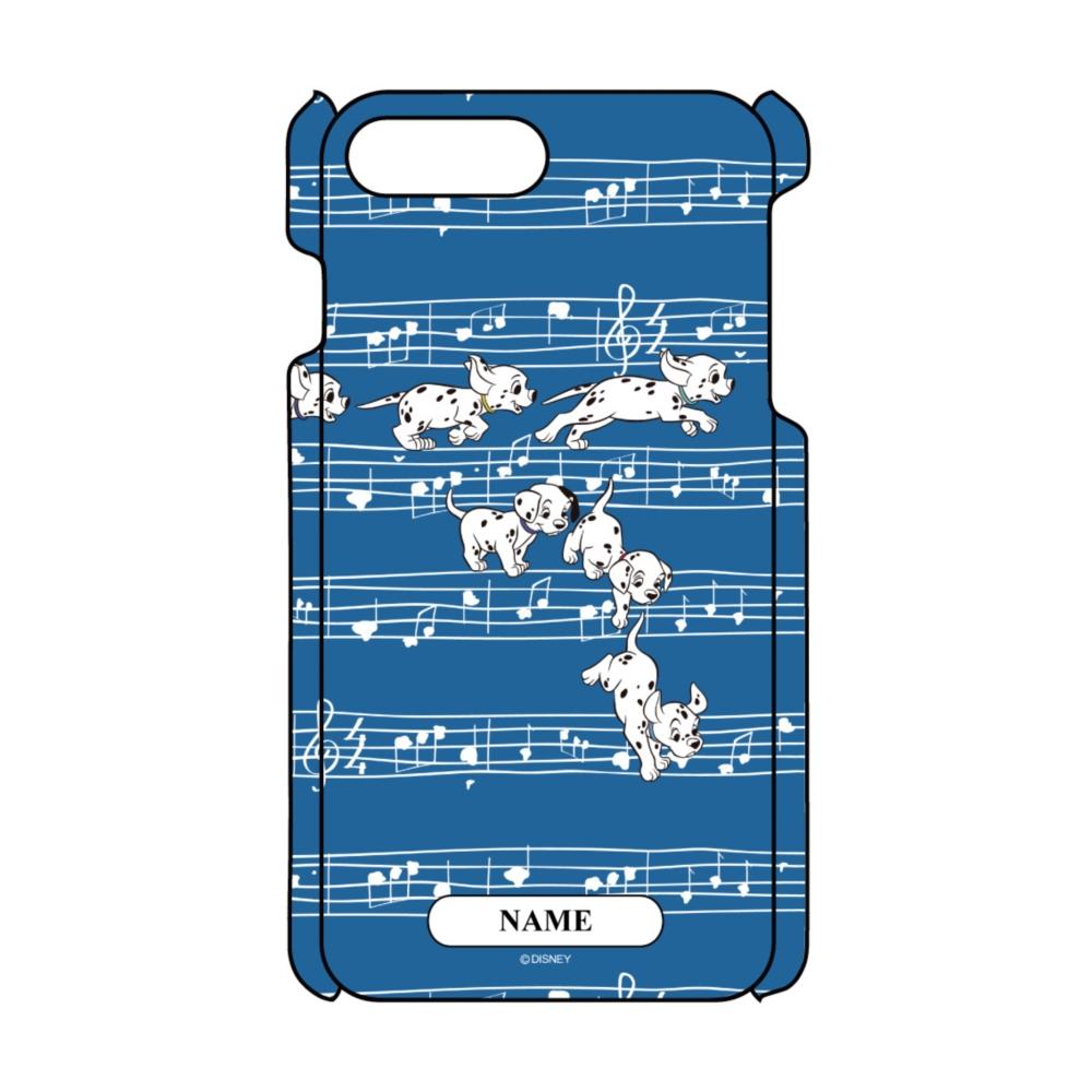 【D-Made】名入れ iPhoneケース 総柄 101匹わんちゃん 楽譜
