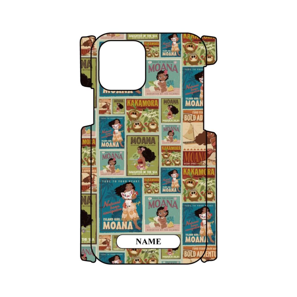 【D-Made】名入れ iPhoneケース 総柄 モアナと伝説の海 モアナ ポスター