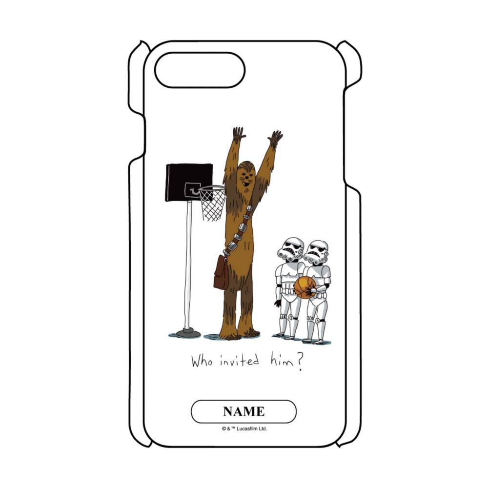 【D-Made】名入れ iPhoneケース スター・ウォーズ チューバッカ&ストームトルーパー バスケットボール