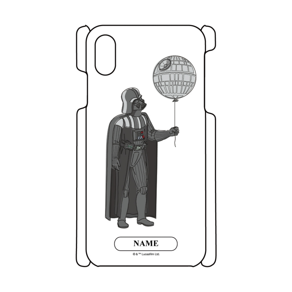 【D-Made】名入れ iPhoneケース スター・ウォーズ ダース・ベイダー デス・スター 風船