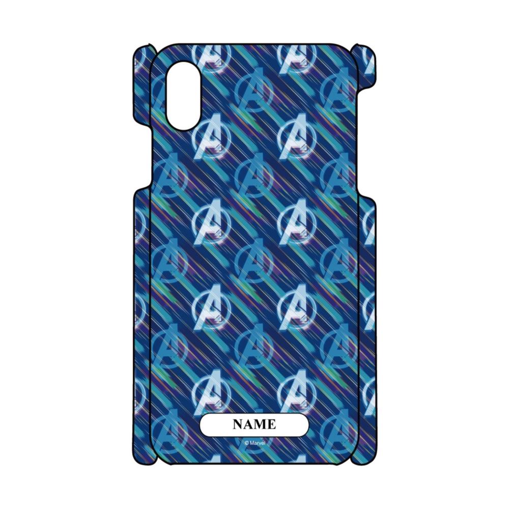 【D-Made】名入れ iPhoneケース 総柄 MARVEL アベンジャーズ アイコン
