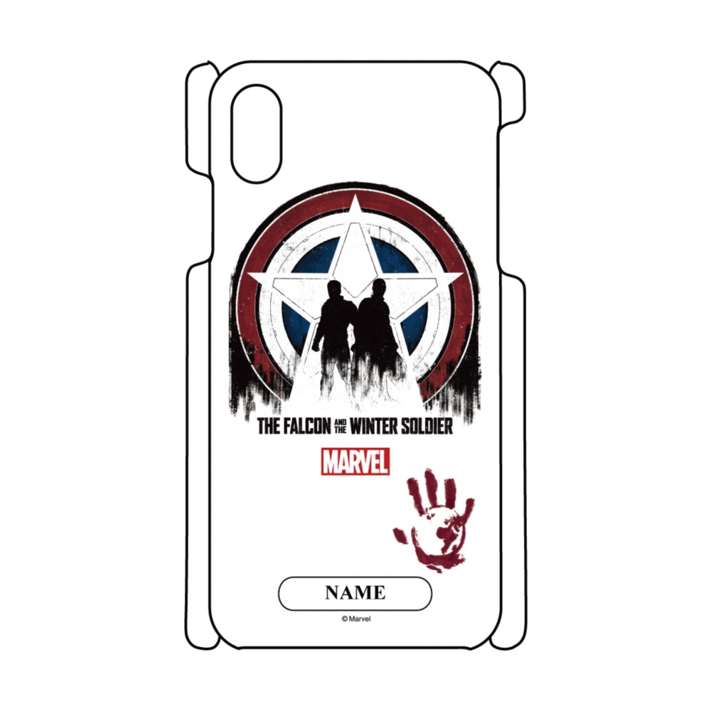 【D-Made】名入れ iPhoneケース MARVEL ファルコン&ウィンター・ソルジャー フラッグ・スマッシャーズ