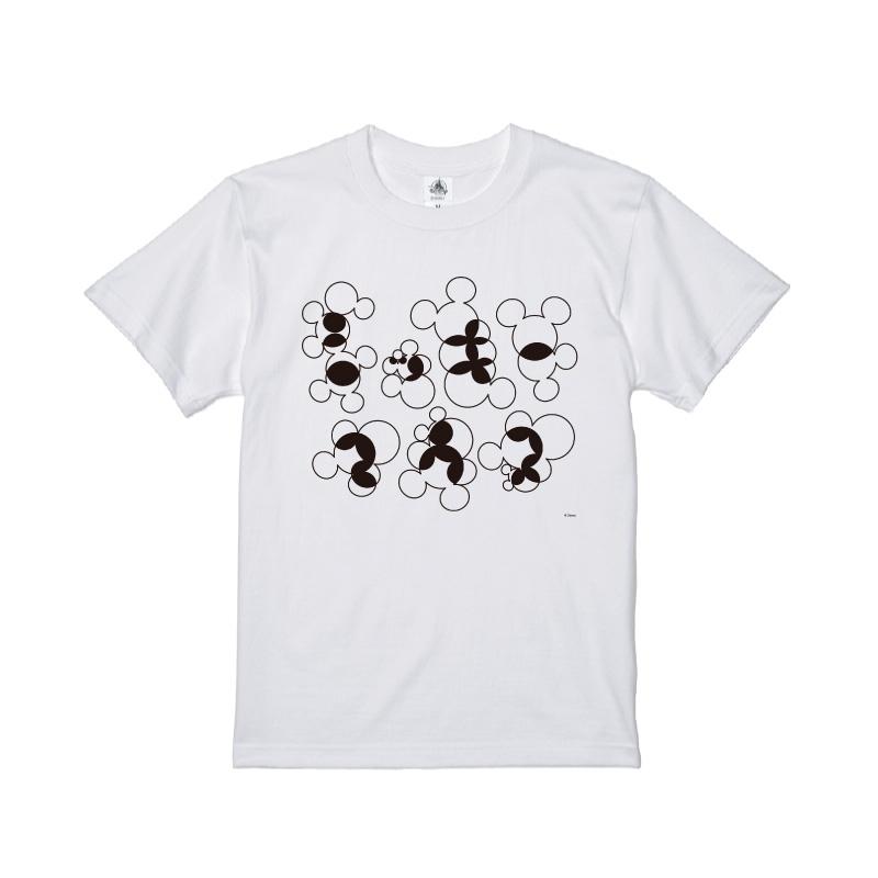 【D-Made】Tシャツ ミッキー アイコンパターン モノクロ KATAKANA